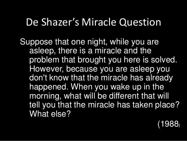 solution-focused strategies - miracle question